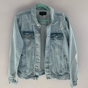 PacSun Distressed Oversized Jean Jacket M